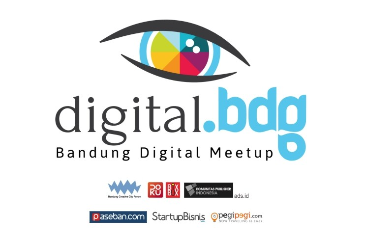 Digital MeetUp Logo Februari with sponsor