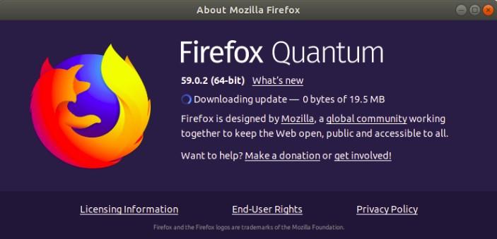 Mozzila Firefox versi 64