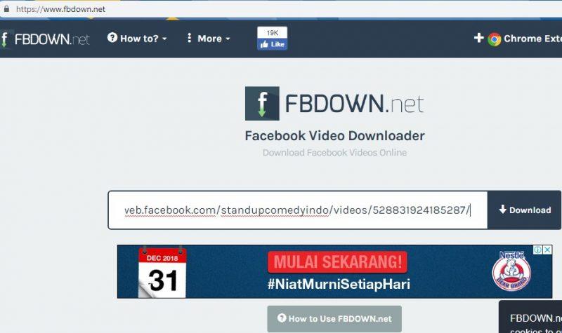 download gratis video di facebook