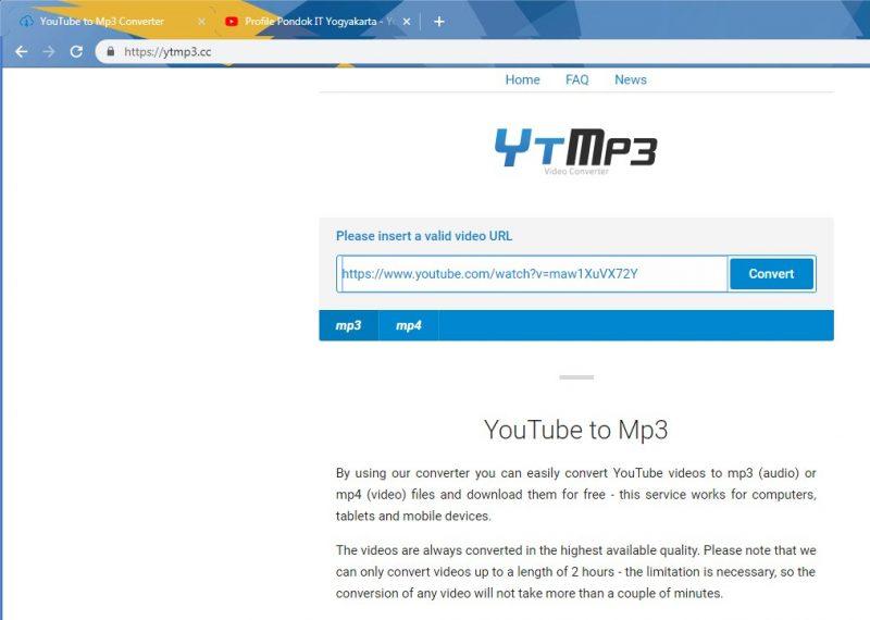 Cara Download Lagu Dari Youtube dengan ytmp3