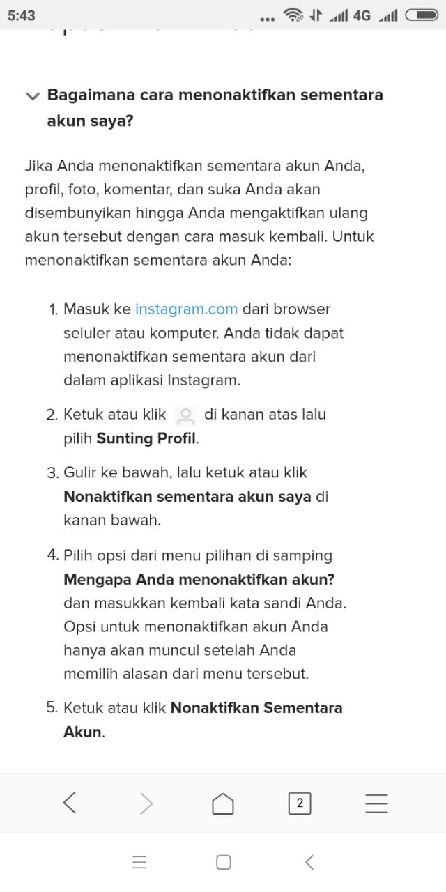 bagaimana cara keluar dari akun instagram