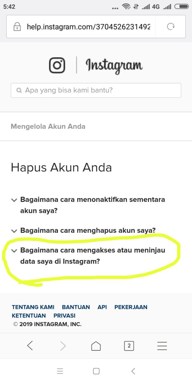 cara menghapus akun instagram versi terbaru