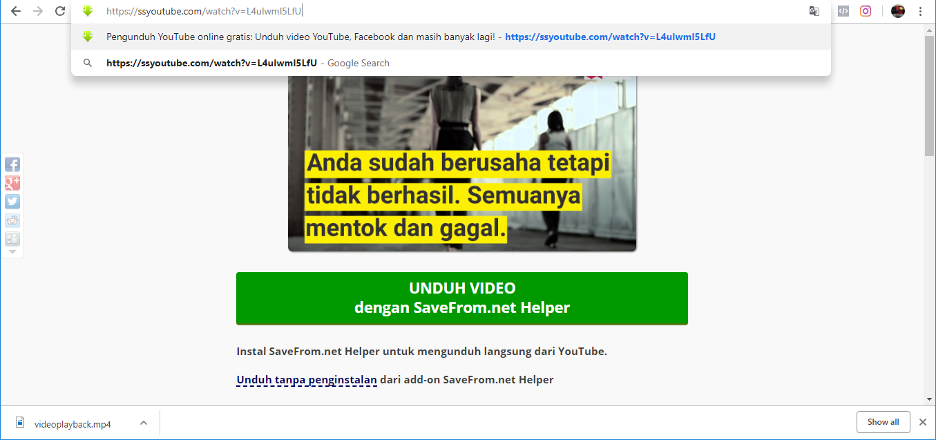 Download Video di Youtube