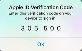 Ada kode verifikasi yang masuk