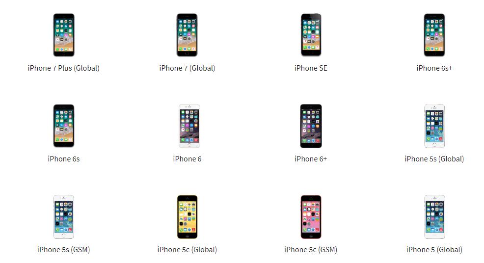 Memilih tipe atau jenis iPhone