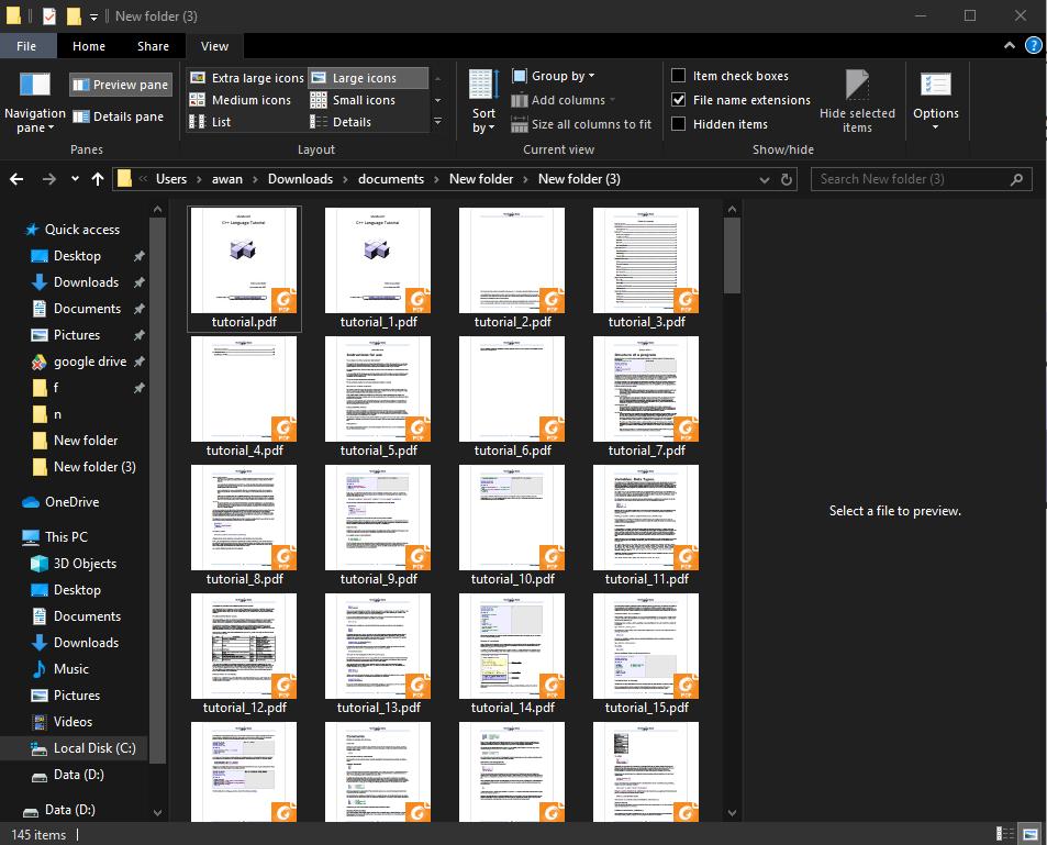 Menunggu Proses File PDF Terpisah