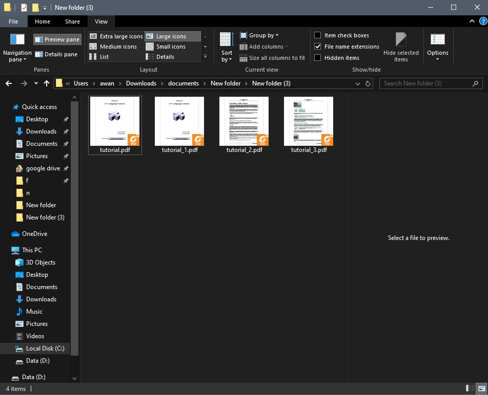 Hasil Penyimpanan File PDF