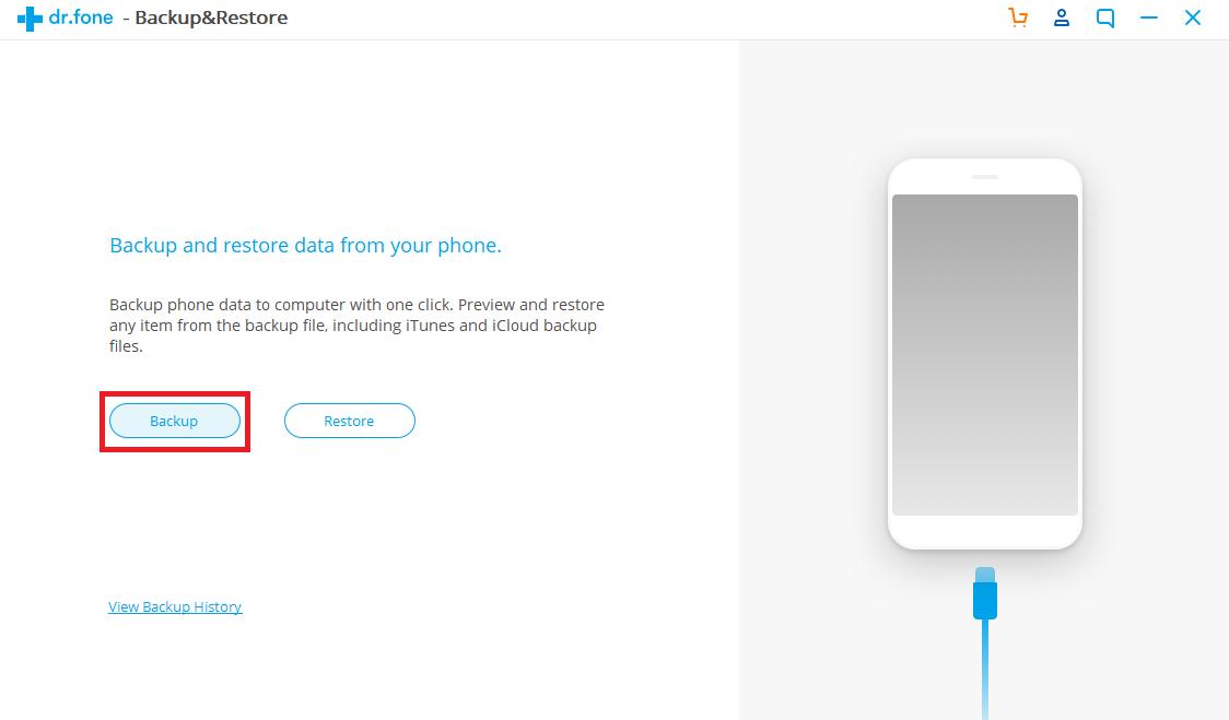 Klik backup untuk mencadangkan data