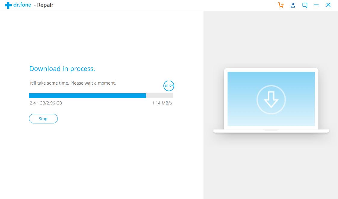 Proses download ios akan berjalan
