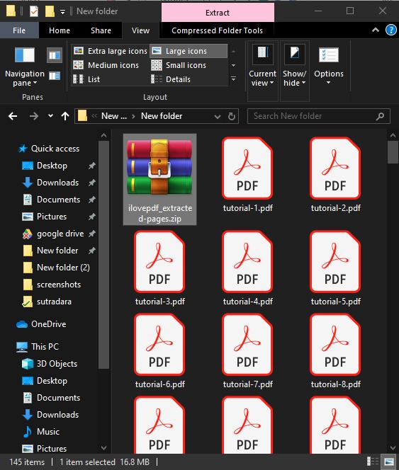 Hasil file yang telah diekstrak