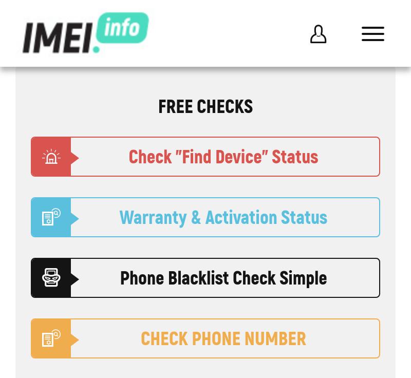 Gambar Fitur Gratis di IMEI dot Info