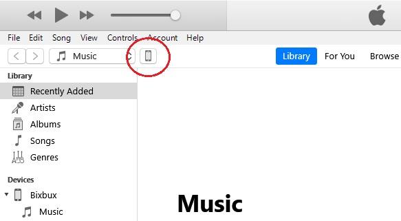 Pilih ikon device.
