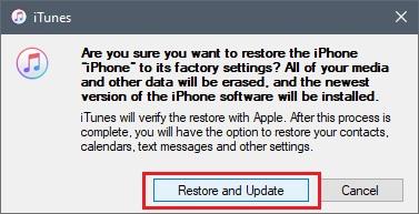 Pilih Restore and Update