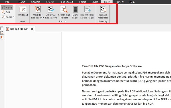 Cara edit file pdf dengan nitro pro