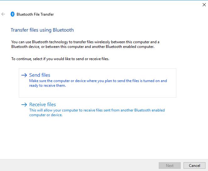 cara mengirim file via bluetooth