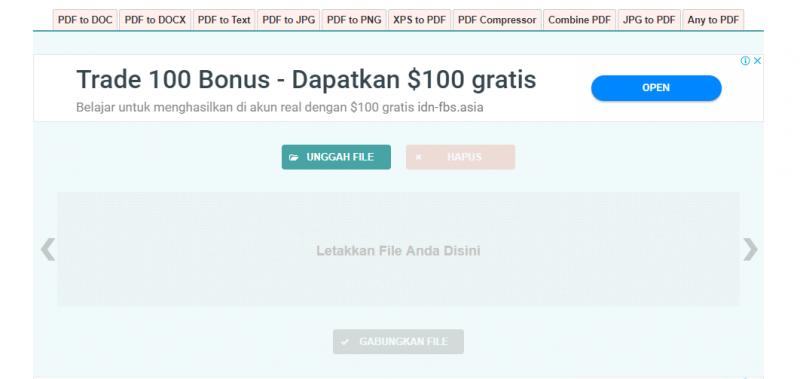 Cara menggabungkan file PDF melalui Website pdfjoiner.com