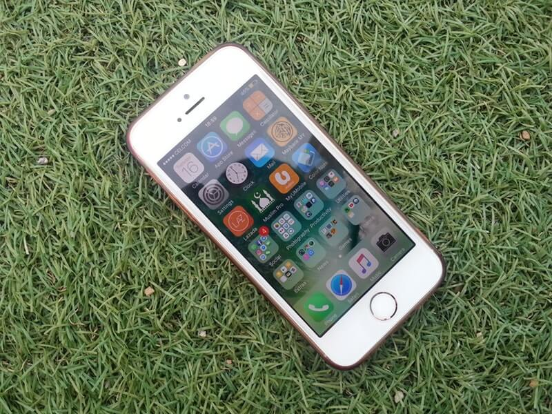 Smartphone iPhone di rumput