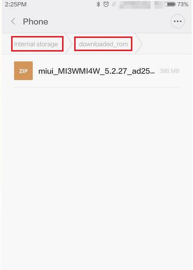 Mencari lokasi hasil download rom
