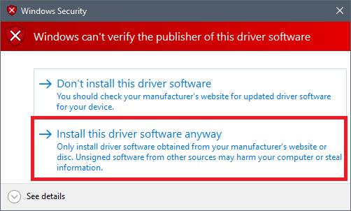 Ada peringatan dari Windows, pilih install