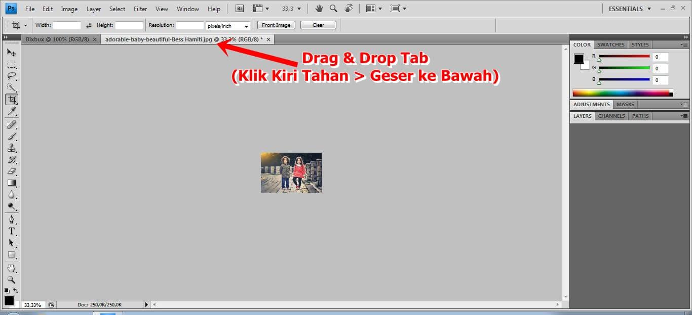 drag & drop tabuntuk gambar