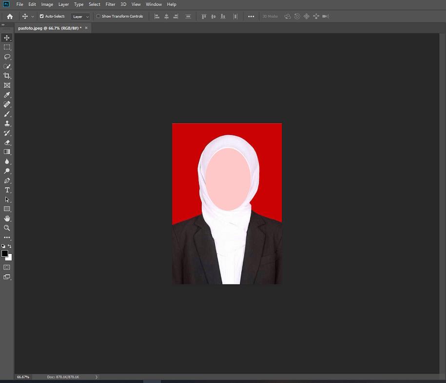 Ini ukuran foto 4x6 di Photoshop