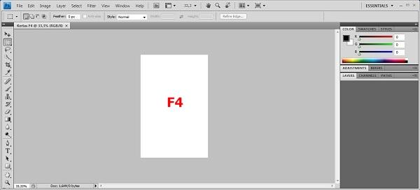 Dokumen dengan pengaturan F4 telah berhasil diatur