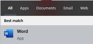 Buka Microsoft Word