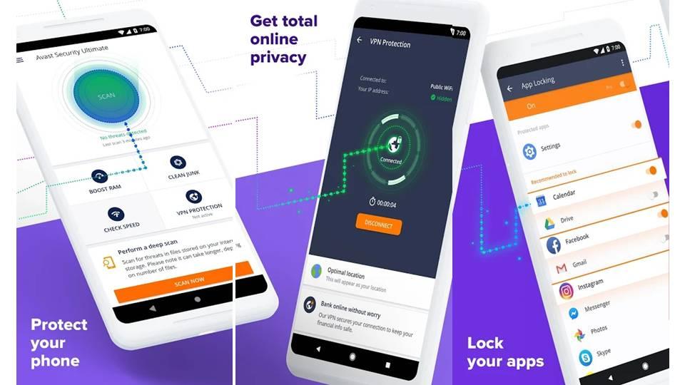 Screenshoot Avast Antivirus untuk mobile