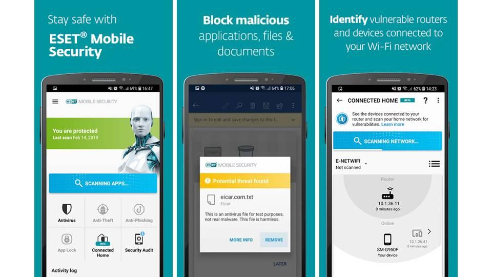 Screenshoot ESET Antivirus untuk mobile