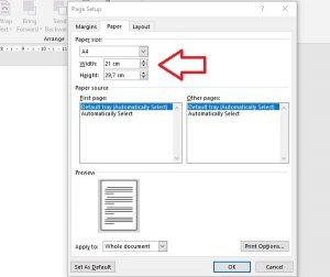 cara mengatur ukuran kertas a5 3 – BixBux.Com