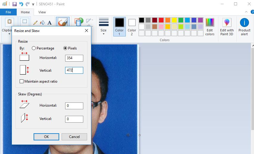 edit ukuran foto di paint