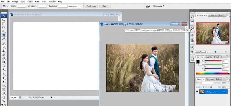 mengatur ukuran foto 4r di photoshop