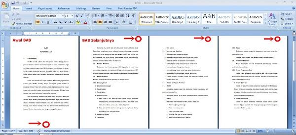 Format halaman pada Skripsi