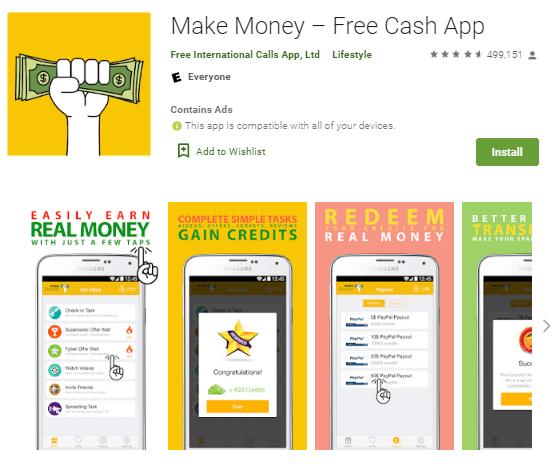 Screenshot Make Money