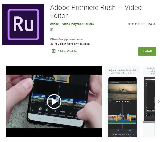 Gambar Adobe Premiere Rush