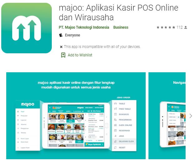 Screenshot Majoo