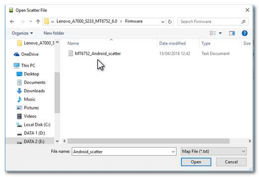Klik file di dalam flashtool