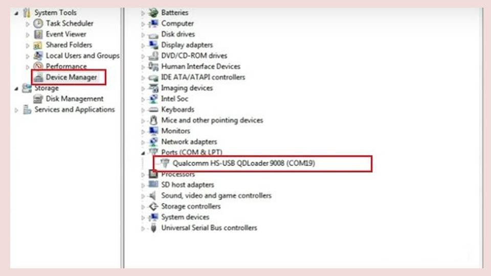 cek pada Device Manager