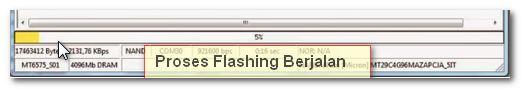 Tunggu proses flash berjalan