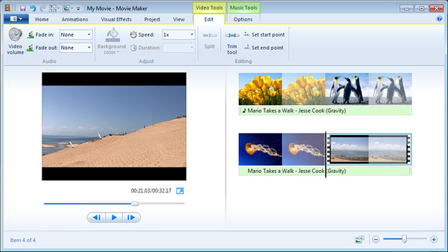 Gambar Windows Movie Maker