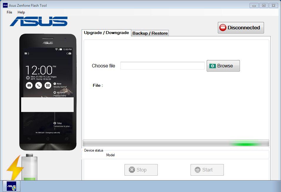 Asus Zenfone Flashtool telah berhasil dibuka
