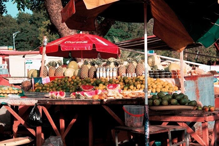 Foto dagangan di pasar