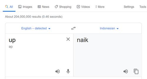 arti up dalam bahasa indonesia